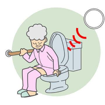 トイレ内の見守り(動態確認)