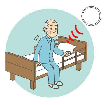 ベッド上の見守り(姿勢検知)